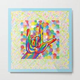 ASL I Love You for Baby Boy Nursery Metal Print