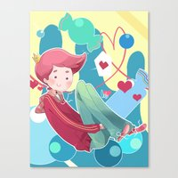 gumball Canvas Prints featuring Prince Gumball by Sei00