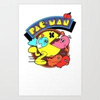 pac man Art Prints featuring Pac-Man by idaspark