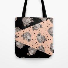Roses and Peach Tote Bag