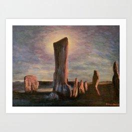 Callanish standing Art Print