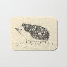 Monochrome Hedgehog Bath Mat