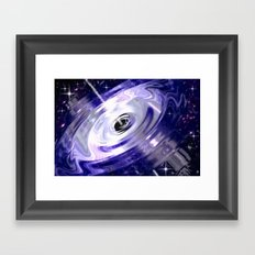 In the center of a galaxy. Framed Art Print