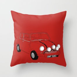 The Italian Job Red Mini Cooper Throw Pillow