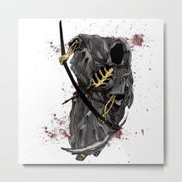 Grimm Reaper Metal Print