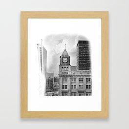 The Gem City Clock Framed Art Print