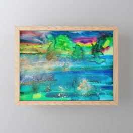 Lake Kayaking Framed Mini Art Print