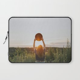 Girl With A Hat At Sunset Laptop Sleeve