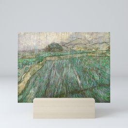 Vincent Van Gogh Wheat Field In Rain Mini Art Print