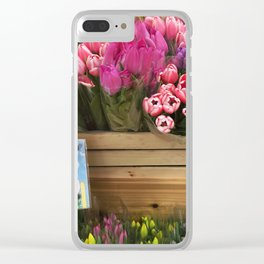 Long Stem Tulips Clear iPhone Case
