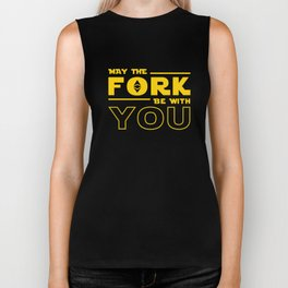 Ethereum Fork - May the fork be with you Biker Tank