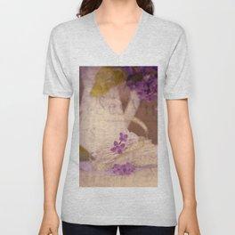 Nostalgic Lilac flower Vintage style Unisex V-Neck