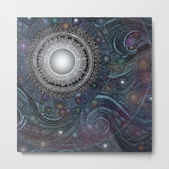 Feather Moon Metal Print