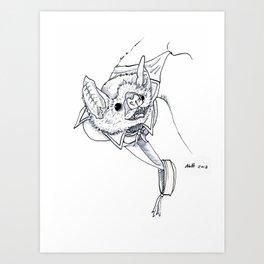 Joel The Vampire Bat Art Print