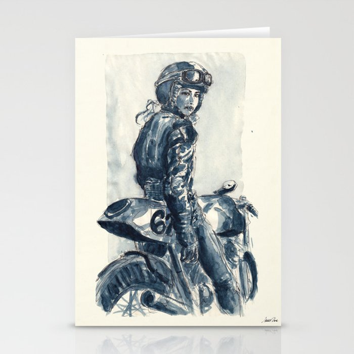 Lady Rider 170129 Stationery Cards
