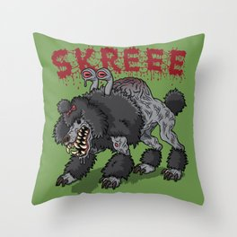 Parasite Poodle Throw Pillow