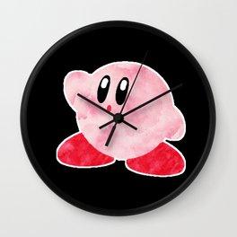 Watercolour Kirby Wall Clock