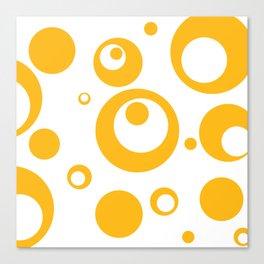 Circles Dots Bubbles :: Mango Inverse Canvas Print