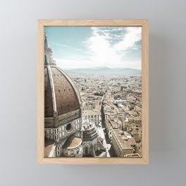 view from the top: florence, italy Framed Mini Art Print