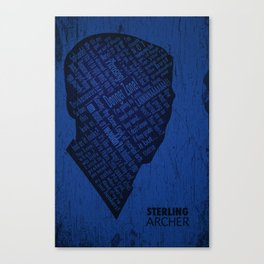 Archer Poster Canvas Print