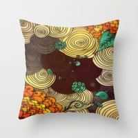 earth Throw Pillows featuring Earth by DuckyB