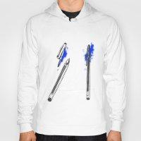 pen Hoodies featuring Pen by david magila