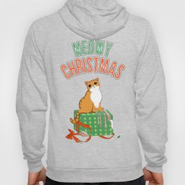 Meowy Christmas Orange Tabby Cat T-Shirt xmas Santa Claws Hoody