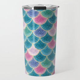 Glittery Mermaid Scales Travel Mug