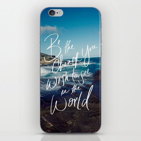 Be the Change iPhone & iPod Skin