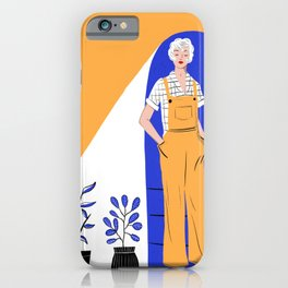 Lady with plants iPhone Case