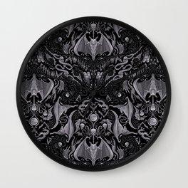 Bats And Beasts - Black and Gray  Wall Clock