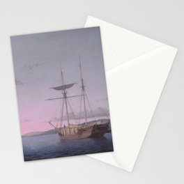 Fitz Henry Lane Lumber Schooners at Evening on Penobscot Bay 1863 Stationery Cards