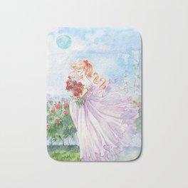 Princess Serenity with Roses Bath Mat