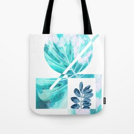 Teal tropical abstract Tote Bag
