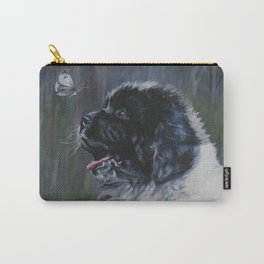 Landseer Newfoundland Dog Art from an original painting by L.A.Shepard Carry-All Pouch