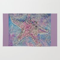 starfish Area & Throw Rugs featuring Starfish by Christine's heART
