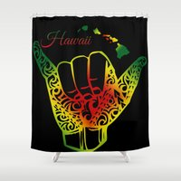 hawaii Shower Curtains featuring Hawaii by Lonica Photography & Poly Designs