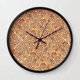 Watercolor Triangles (Orange) Wall Clock