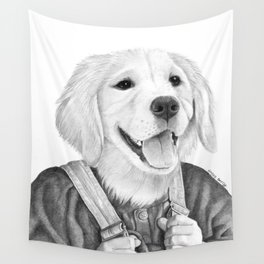 My Boy The Golden Retreiver Wall Tapestry