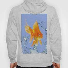 DECORATIVE  GOLDFISH SPLASHING  WATER ART Hoody