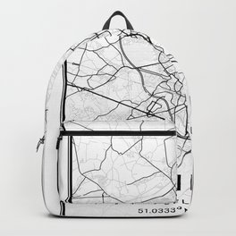 Ghent Light City Map Backpack