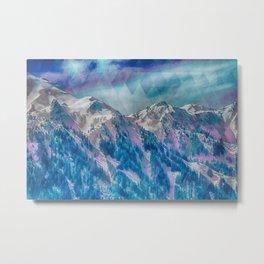 Mountain Peaks Metal Print