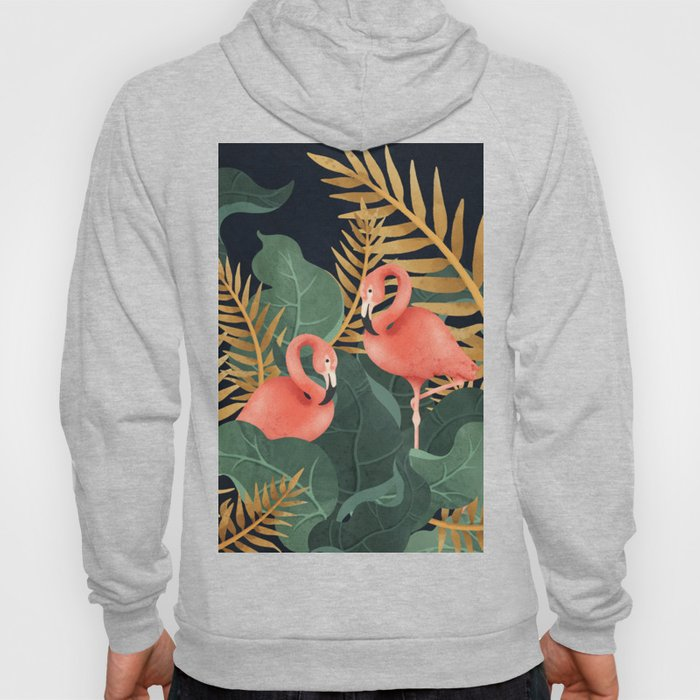 Two Flamingos Hoody