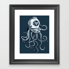 I'm falling in love with you? (blue gray) Framed Art Print