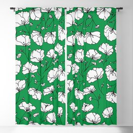 Green Spring Florals Blackout Curtain