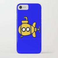 yellow submarine iPhone & iPod Cases featuring Yellow Submarine by Caroline Blicq