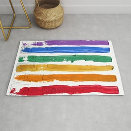 Rainbow Lipstick Stripes Rug