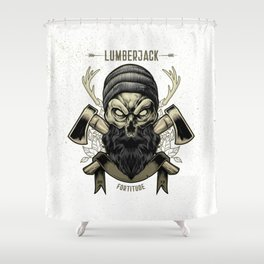 Fortitude (Lumberjack) Shower Curtain