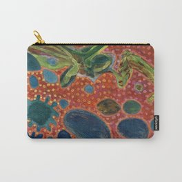 Falling Rocks on dotted Background  Carry-All Pouch