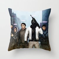 youtube Throw Pillows featuring Youtube Gamers by Meder Taab